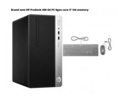 HP ProDesk 400 G6 PC Desktop core i7 9th Gen