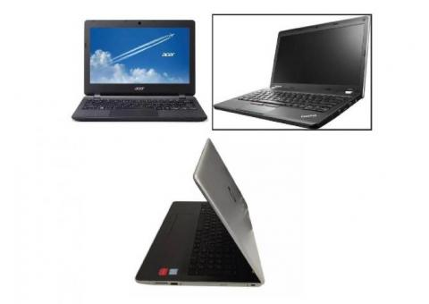 Refurbished and Used Laptops with 3 free games